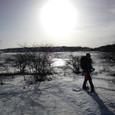 残照の雪原